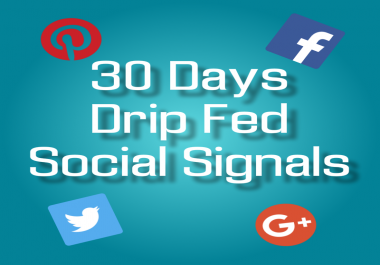30 Day Drip Feed For Social Signals
