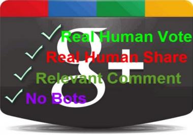 I Have need 80 Google plus1 vote & 80 Google share.