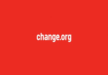 Change. org signatures