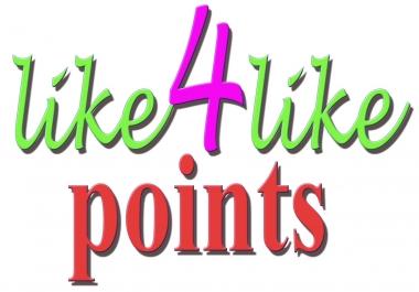 Like4like maximum creidit in 1 account just 10 min