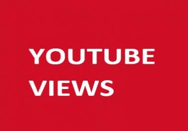 Need 500 youtube views non drop