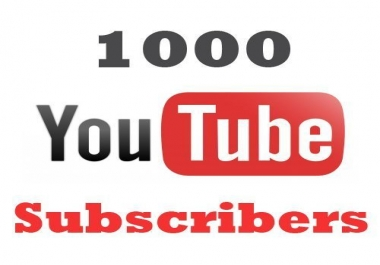 1000 Permanent Youtube subs +no drop guarantee 2months