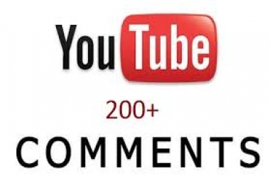 Want to buy 200+ real youtube comments for