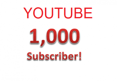 Youtube subscribers 1000