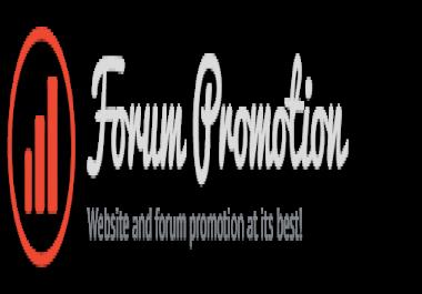 Make 10 quality topics on my forum