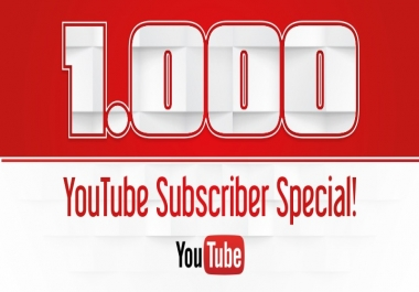 1000 None Drop Youtube Subscribers