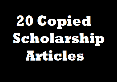 Copy 20 Current Scholarship Article And Paste Into Doc File