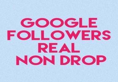 Need 150 Real Non Drop Google Followers