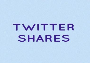 100 Twitter shares for website