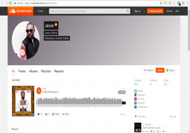 Sound cloud plays and downloads