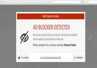 Adblock detect script for blogger