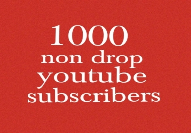 Need 1000 Real non drop YouTube Subscribers