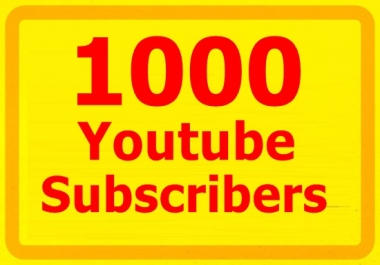 1000 YouTube Subscribers Needed FAST