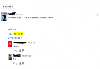 YouTube Comment Likes/Upvotes