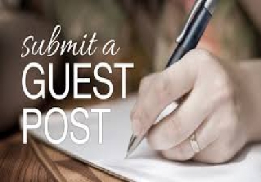 I need approved Guest post for my niche