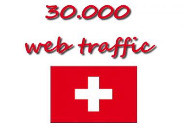 30K web traffic from Swiss Only swiss