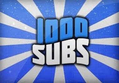 I need 1000 Youtube subs