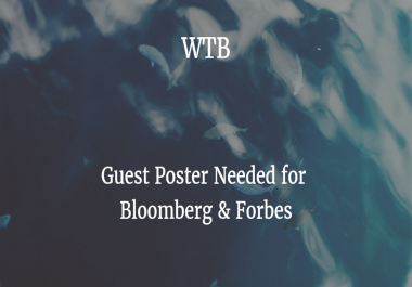 WTB Bloomberg or Forbes