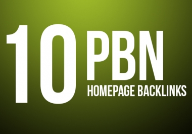 Need to 10 Homepage PBN links