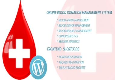 Blood Bank Online management php script