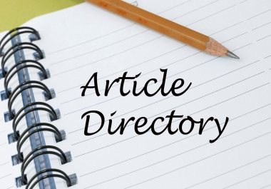 20 article directory submission