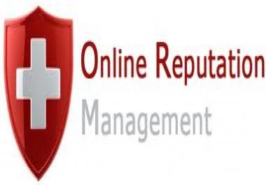 Need online reputation managment