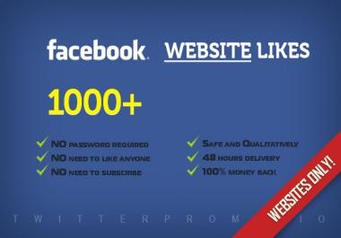 Need 1000 Facebook Like In A Website