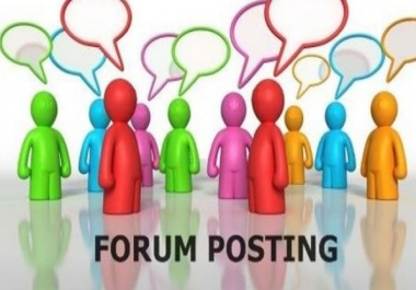 Forum Posting in 2hours