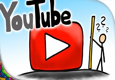 Need 1000 Non Drop HR Youtube Views for Youtube Vidos