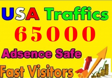 Looking 65000 Web traffic USA & UK Visitors With Low Bounce Rate