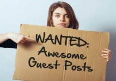 Guest Post Wanted - Guest Post Seller - Contact me