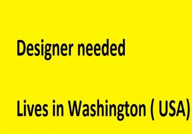 Graphic Desinger Who lives Washington