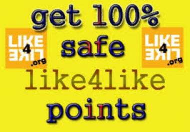 I need 7000 like4like point for