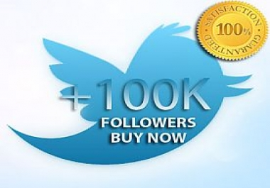 100,000 FOLLOWERS TWEETER