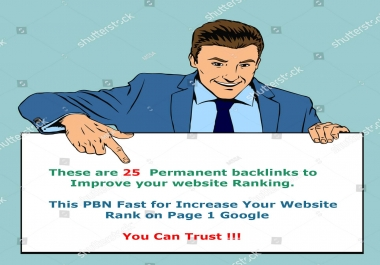 I will Create 25 Permanent Pbn Contextual Backlinks Trust Flow 20