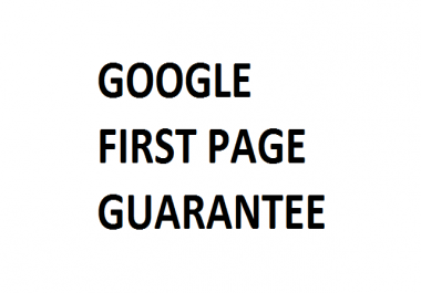 First page on Google - easy to medium competition