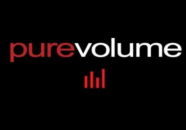 I want guest post on purevolume. com