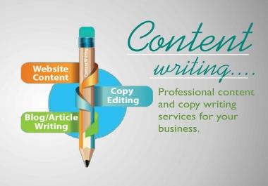 Urgent Content Writer bid for 7