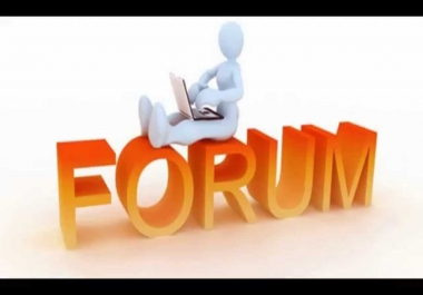 I Want 30 Forum Backlinks,  Less OBL and high authority site relevant comment