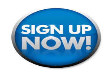 100+ Signups Service For my Site