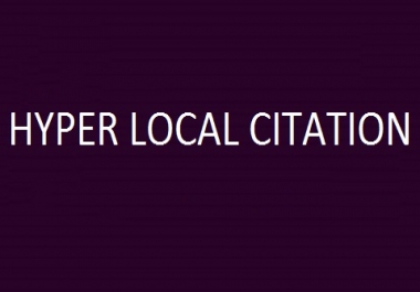 Hyper Local Citation