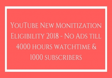 Need 4000 hour watch time for youtube video