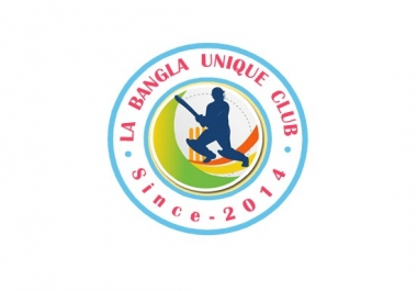 Cricket UNIQUE CLUB Logo Design