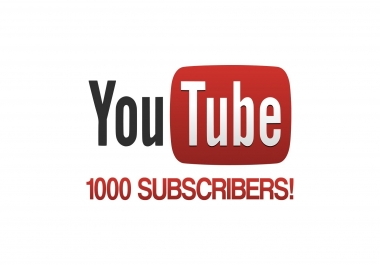 1000 utube subscribers on urgent basis in 2 days
