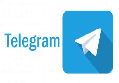 I need telegram members 500 Real & naturally