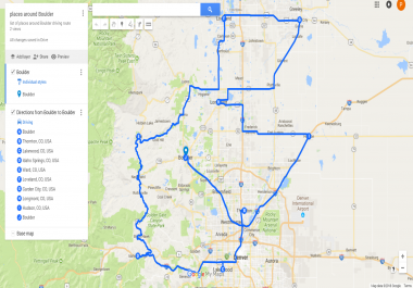Create approx 700 route maps in google