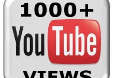 Need 1000 Utube Views 4 min views