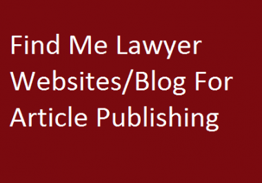 Find Me Lawyer Websites To Publish Articles
