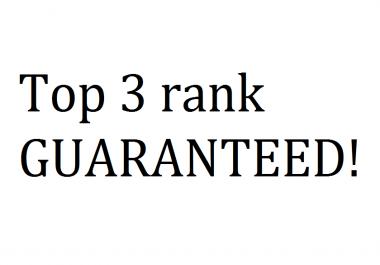 Rank my website top 3 on Google