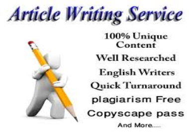 300 Word Plagiarism Free Copyscape Pass Article